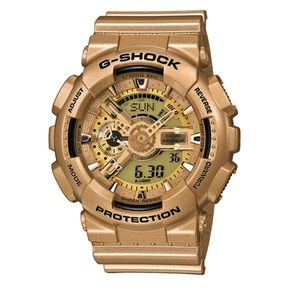 GSHOCK Men's Analog Digital Gold Resin Strap GA110
